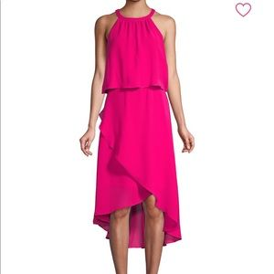 Saks Fifth Avenue Asymmetrical Popover Dress